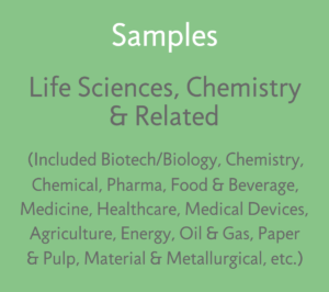 3. Sample FTO Reports - Life Sciences