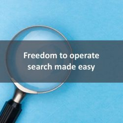 Freedom to operate search made easy