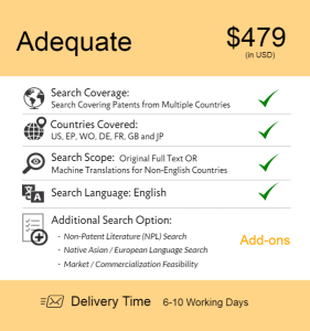 Adequate – Patentability  Novelty Search