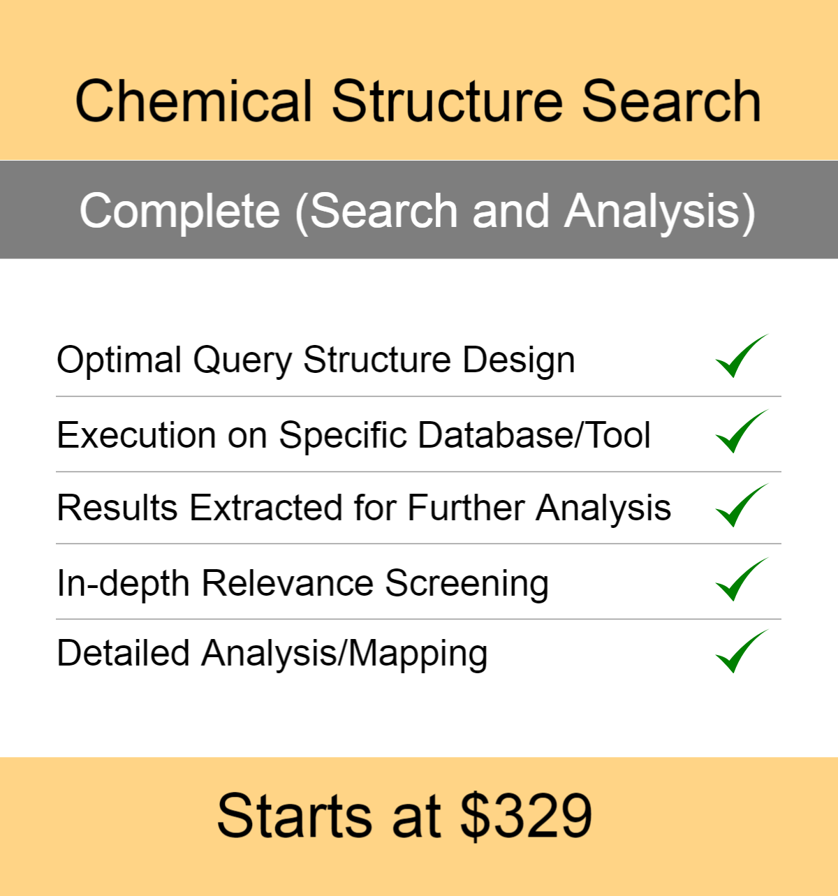 Chemical Structure Search Services at Affordable Price