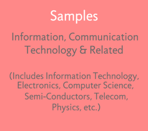 1. Sample FTO Reports - ICT