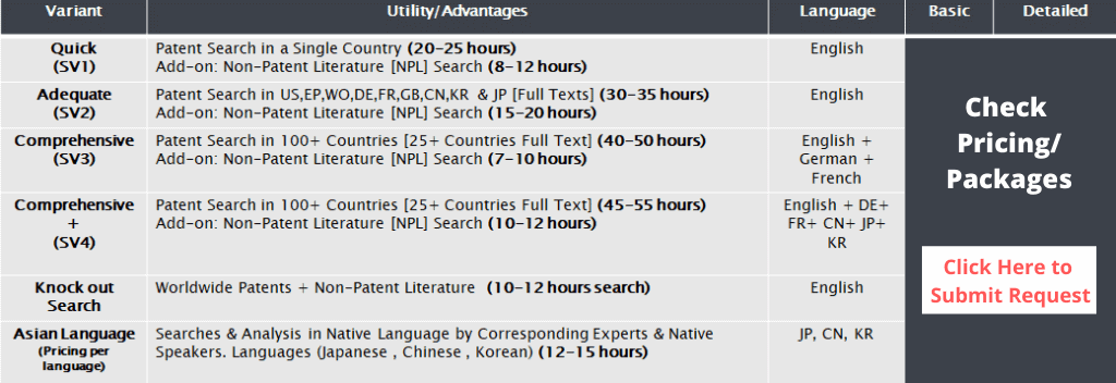 Patent Invalidity Search Check Pricing_ Packages