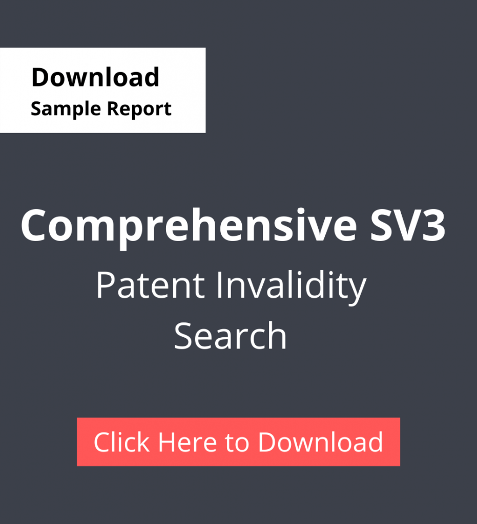 TPSF Sample Report Patent Invalidity Search Comprehensive SV3
