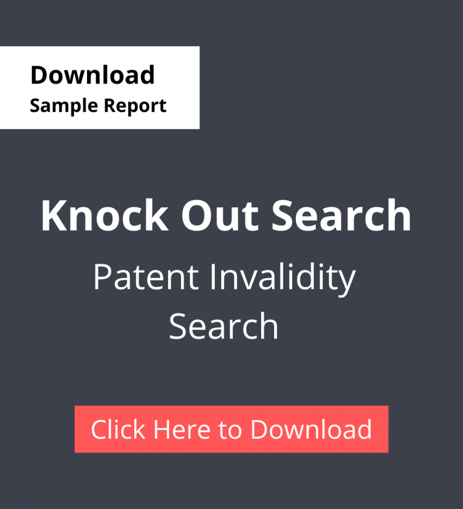 TPSF Sample Report Patent Invalidity Search Knock Out search