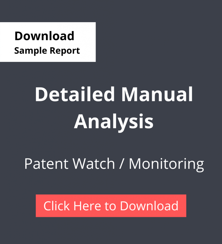 TPSF Sample Report Patent Watch Or Monitoring Detailed Manual Analysis