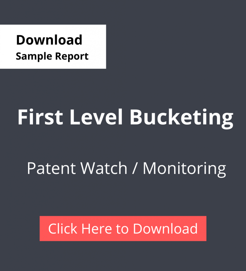 TPSF Sample Report Patent Watch Or Monitoring First Level Bucketing