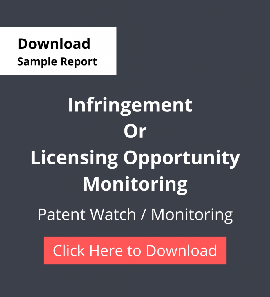 TPSF Sample Report Patent Watch Or Monitoring Infringement Or Licensing Opportunity Monitoring