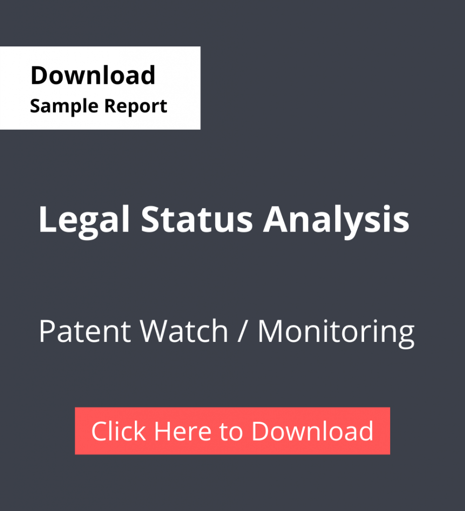 TPSF Sample Report Patent Watch Or Monitoring Legal Status Analysis