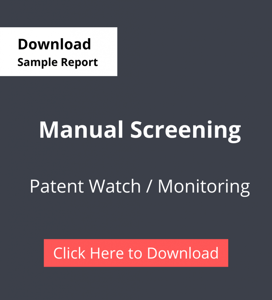 TPSF Sample Report Patent Watch Or Monitoring Manual Screening